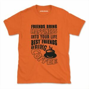 Лучшие друзья принести кофе футболка смешная кофе утром, женские, мужские