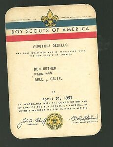 California Boy Area Card Nice Ebay Scouts Id 1957