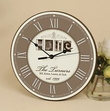 Personalized Laser Engraved Wall Clock, HOME- Great Anniversary Gift!