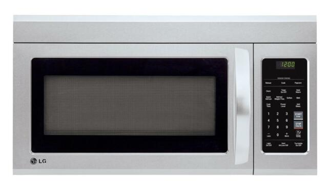 Lg White Over The Range Microwave Oven