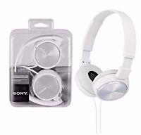 Sony MDR-ZX310 Stereo Monitor Over-Head Headband Headphones - White DJ Style