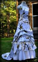 Camo Wedding Gown/realtree Satin Camo 'abby May' Made Only In Usa