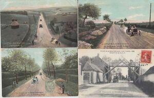 CIRCUIT-DE-LA-SEINE-INFERIEURE-1908-France-30-Vintage-Car-Racing-postcards