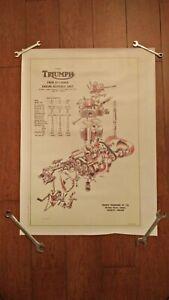 [QMVU_8575]  Reproduction Vintage Triumph Unit engine 500cc 5TA 3TA exploded diagram  poster   eBay   Vintage Triumph Engine Diagram      eBay