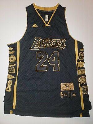 Kobe Bryant Stitched Commemorative Retirement Jersey Black Men's ...