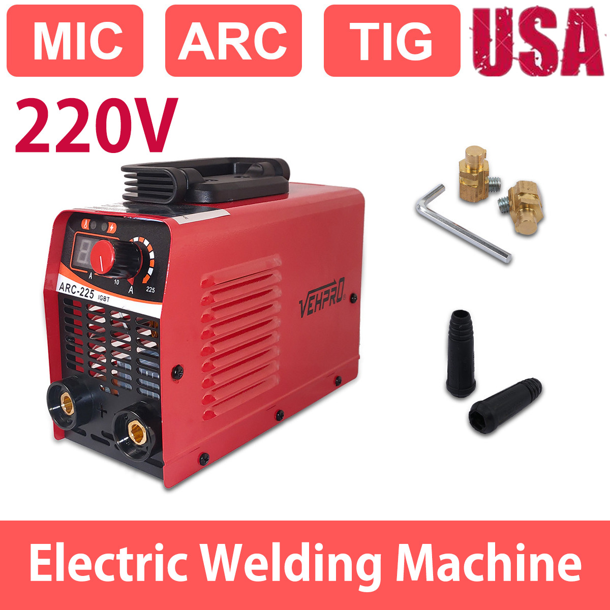 Welder Gas Less F-lux Core Wire Automatic Feed Welding Machine ARC-225. Available Now for 82.98