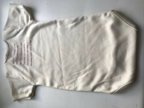 COWSHED PACK OF 4 SHORT SLEEVE BABY GROW VEST HALF SLEEVE ORGANIC COTTON 6-9M