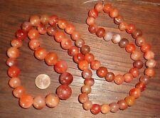 74cm Perle Ancien Cornaline Mali Afrique Antique African Carnelian Trade Beads