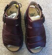 Ladies Dr Martens 8330 Violet Leather Chunky Sandals Size 3/36 Brand New