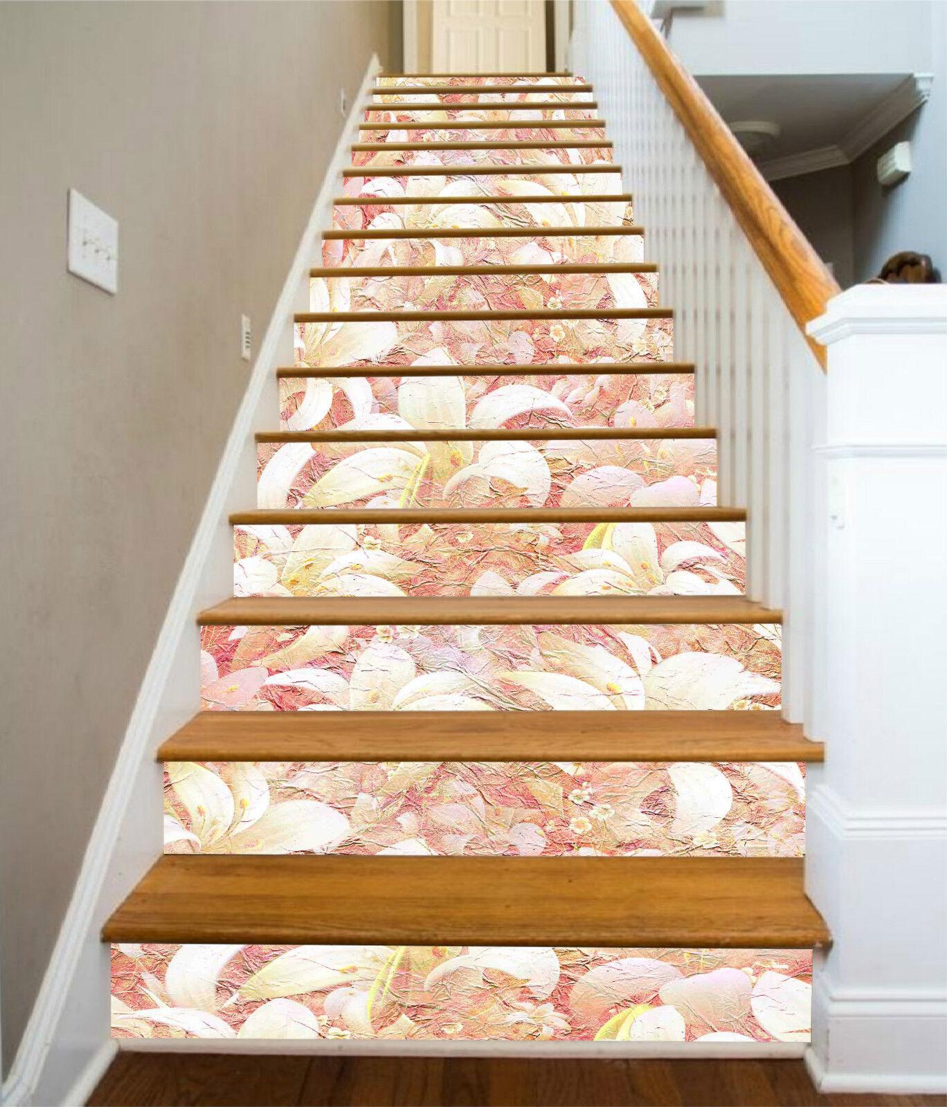 3D Blaume Falten 337 Stair Risers Dekoration Fototapete Vinyl Aufkleber Tapete DE