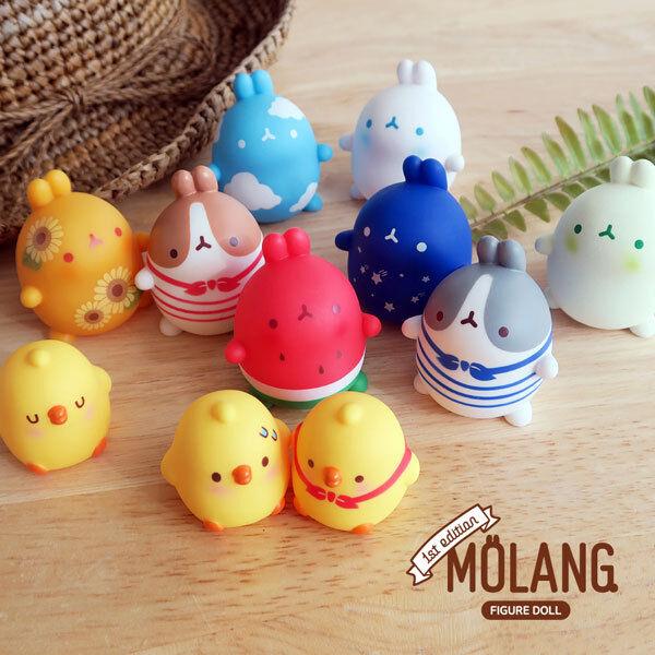 Cute rabbit Molang  Random mini figure Toys 1BOX(12PCS SET)