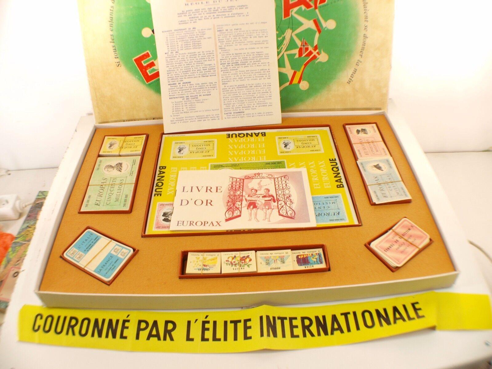 Juego Europax Lehembre Mahé Empresa Pacific 1957 Completo Caja Antiguo Raro
