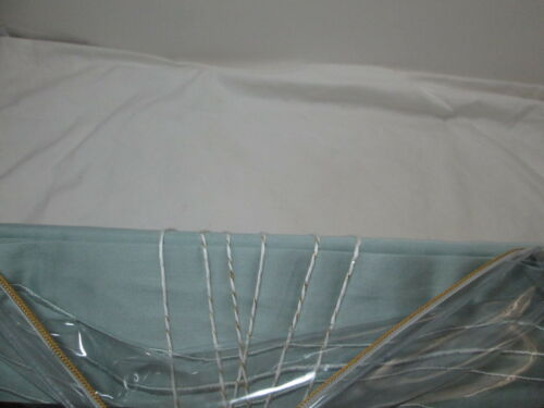 New Kelly Wearstle SHORELINE Queen Fitted Sheet 500 Thread Count ~ Green NIP