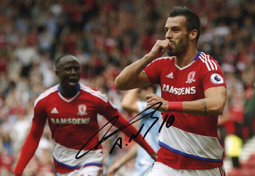 Alvaro Negredo, Middlesbrough, Spain, Valencia, signed 12x8 photo. COA. Proof.