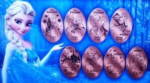 Beauty And The Beast Complete Set Of Eight Souvenir Pressed Pennies