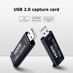 HDMI Vers USB 2.0 Carte de capture vidéo HD 1080P enregistreur de jeux vidéo/Live Streaming