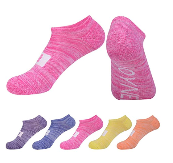 S Balega Unisex Hidden Comfort Exercise Running Fitness Socks Pink
