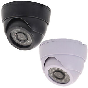 Indoor Outdoor CCTV Video 24 IR LED 3.6mm Lens Night Wired Dome Camera Security