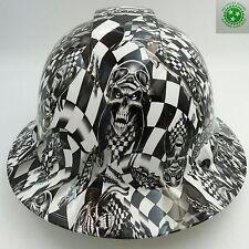Hard Hat FULL BRIM custom hydro dipped , OSHA approved SPEED DEMON RACER  NEW