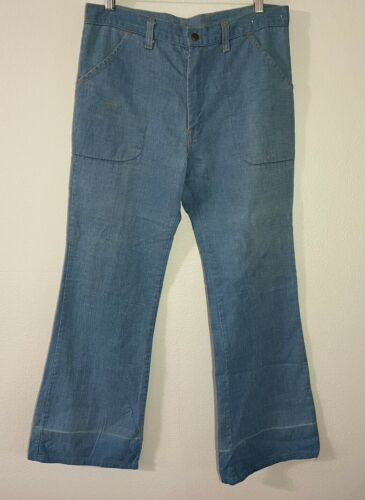 Vintage 70's Jeans Womens High Rise Denim Jeans Bl