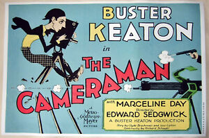 Hi-Q-XL-Movie-Poster-Buster-Keaton-039-s-1928-Film-The-Cameraman-36x24-Print