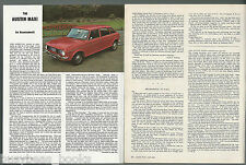 1969 AUSTIN MAXI article from British magazine, BMC British Leyland
