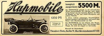 Dynamisch Hupmobile 12/32 Ps Komplett Ausgerüstet 5500 M. Tietz Berlin Von 1913 Dinge FüR Die Menschen Bequem Machen