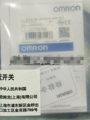 1PC Omron proximity switch E2A-M12KS04-WP-D1 E2AM12KS04WPD1 NEW #F0