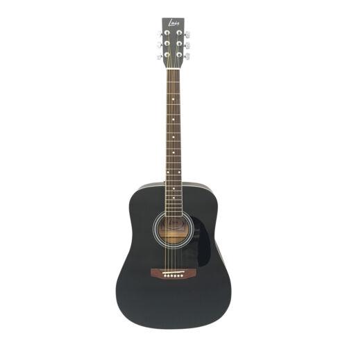 Luis Guitars by Acandoo Westerngitarre 41/'/' acoustic matt schwarz mit gepolstert