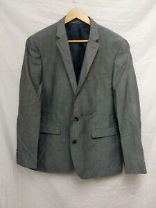 Primark-Mens-Blazer-Suit-Jacket-Grey-Slim-Fit-Size-44R-94B7