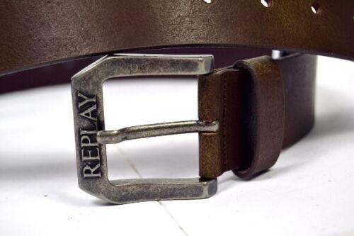 Replay Cuir Ceinture am2417 Brown 40 mm Large Neuf Longueur 90//95//100//105 cm