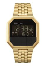 New Nixon Re-Run Digital Watch All Gold