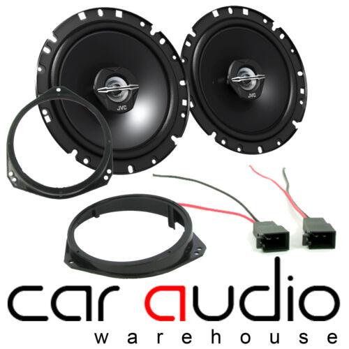 Para Nissan Primastar 01-06 17cm 600 vatios JVC puerta frontal van altavoces y soportes