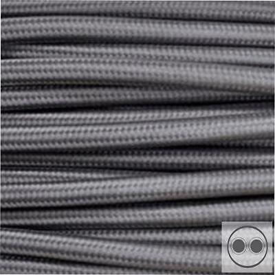 Textilkabel Stoffkabel Um 50 Prozent Reduziert Farbe Grau 2 Adrig 2 X 0,75 Mm² Rund meterware