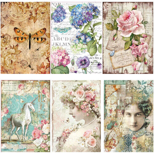 Stamperia Angel on Flower Scrapbook Sheet Rice Paper for Decoupage