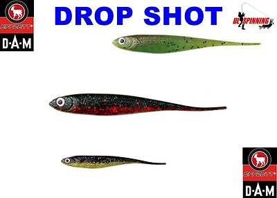 "5Pcs DROP SHOT 3/"" 7,5cm Soft Plastic Lures Baits GRIBSTER Jig Head Fishing Pike"