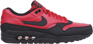 Size 9 / 11 Nike Men Air Max 1 LTR Premium Shoes 705282 600 Red Black
