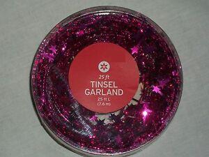 Pink 25' Mini Star Garland Decor Christmas Tree Holiday ...