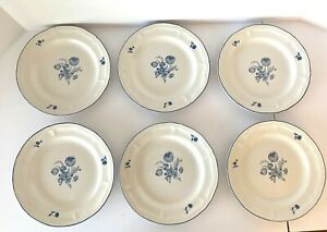 Brickoven-Stoneware-Salad-Plate-set-of-8-Jardin-Bleu-034-French-Country-compatible