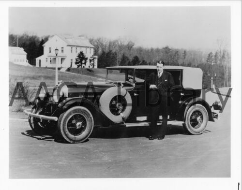 Ref. # 23112 1928 Auburn Series 115 w// racing driver Krei Factory Photograph
