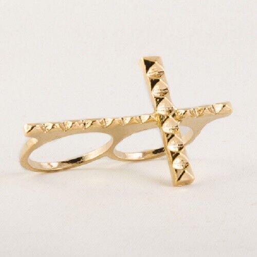 Double Finger Cross Ring UK SELLER