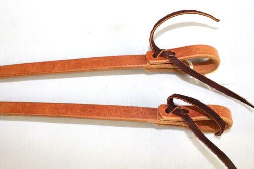 """Amish Herman Oak Heavy Harness Leather Split Reins w//Water Loop Ends 5//8/""""x7ft"""