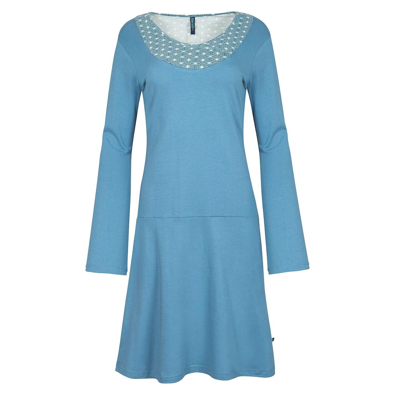 Tranquillo Kleid Bio-Baumwolle blue Biobaumwolle Organic Cotton W18E19 Sasthi