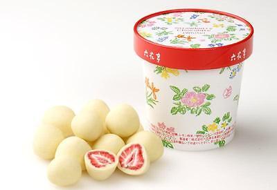 From Japan,Japanese Rokkatei Strawberry Chocolate,White