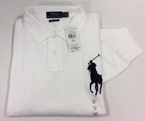 Details about Polo Ralph Lauren Big Pony Mens Long Sleeve Polo-Shirt Slim Fit XXL