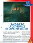 Fire Incendie Cathédrale de Chartres en 1836 Pompiers France FICHE FIREFIGHTER