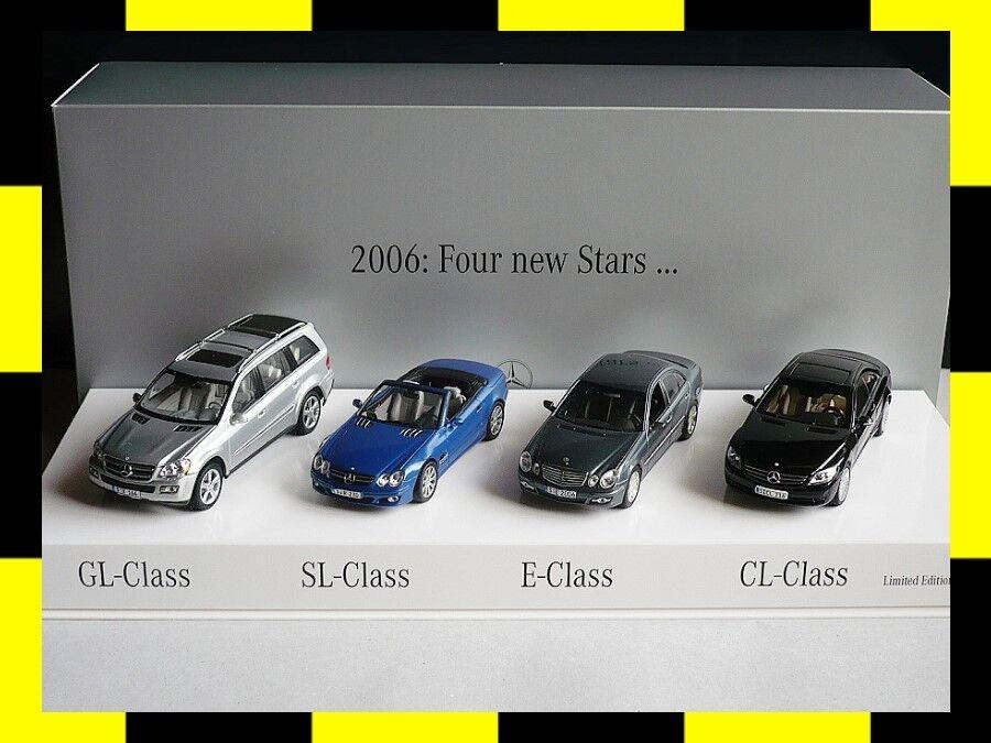 Mercedes-Benz presseset 2006 Four New Stars GL SL E CL MINICHAMPS AUTOART 1 43