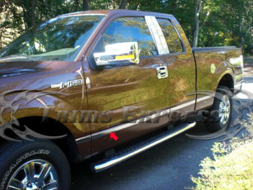 """2009-2014 Ford F-150 Super//Ext Cab 5.5/'Short Bed N//F Flat Body Side Molding 1.5/"""""""