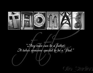 Personalized-Letter-Art-Inspirational-Alphabet-Family-Father-039-s-Day-1-Print-Gift