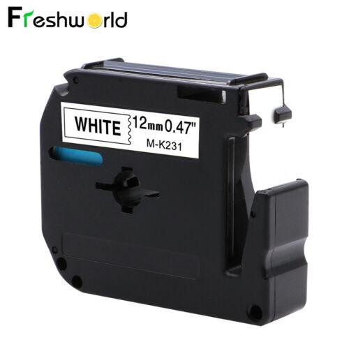 12mm M Tape Kompatibel für Brother M-K231 laminiertes Etikettenband für PT-80